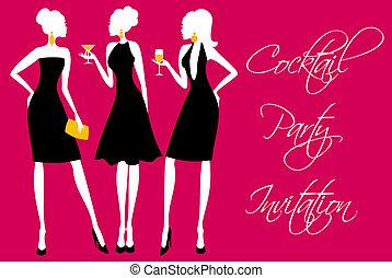 partia, cocktail, zaproszenie
