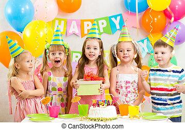 partia, dzieci, albo, urodziny, dzieciaki