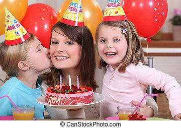 partia, mały, urodziny, panieński