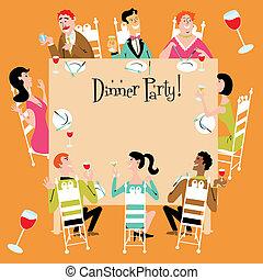 partia, obiad, zaproszenie