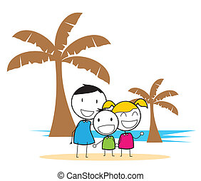 partia, plaża, dzieci