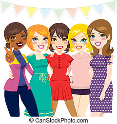 partia, przyjaciele, kobiety