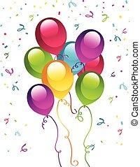 partia, urodziny, balony