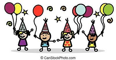 partia, urodziny, dzieci