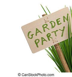 partia, wiadomość, ogród