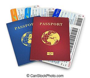 paszporty, bilety, biometric, powietrze