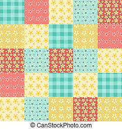 patchwork, próbka, seamless, 1.
