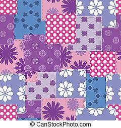 patchwork, tło, seamless
