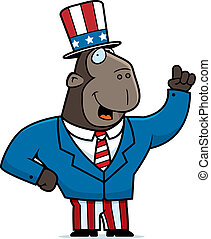 patriotyczny, małpa