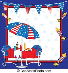 patriotyczny, piknik, zaproszenie