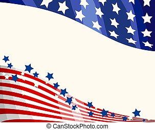 patriotyczny, tło, bandera, amerykanka