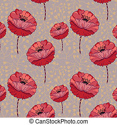pattern., seamless, kwiatowy