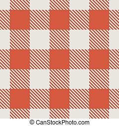 pattern., seamless, wektor, tablecloth, biały czerwony