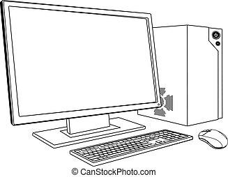 pc, stacja robocza, komputer, desktop