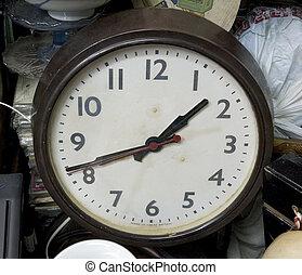 pchła, stary, targ, zegar