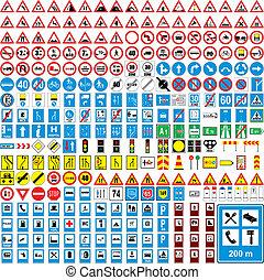 pełno, europejczyk, handel, wektor, editable, trzy, sto, znaki