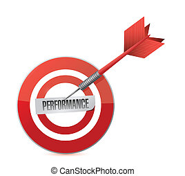 performance., projektować, tarcza, ilustracja