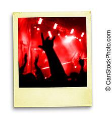 photo:, miłośnicy, polaroid, tłum