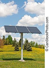 photovoltaic, energia, -, słoneczny, szyk, odnawialny, poduszeczka