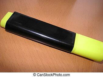 pióro markiera, żółty