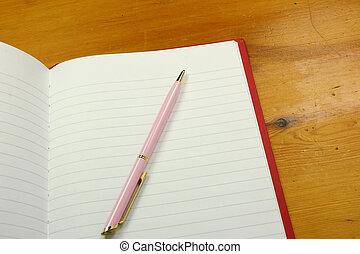 pióro, notatnik