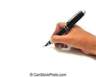 pióro, wręczać pisanie