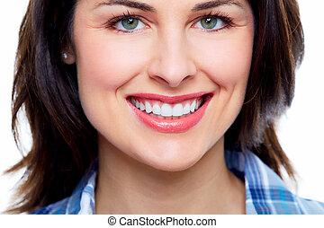 piękna kobieta, smile.