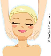 piękno, twarzowy masaż