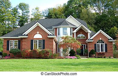 piękny, dom