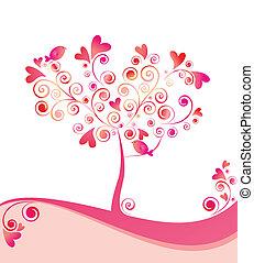 piękny, drzewo