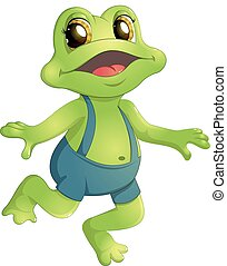 piękny, humanoid, żaba