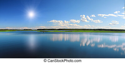 piękny, jezioro