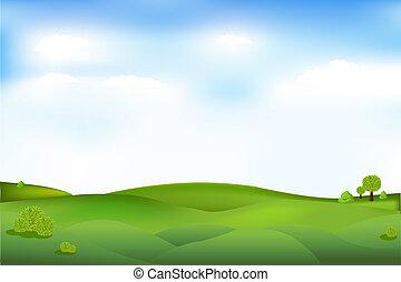 piękny, krajobraz