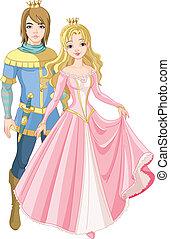 piękny, książę, księżna