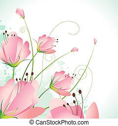 piękny, kwiat