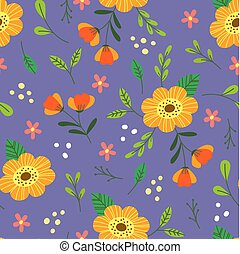 piękny, kwiatowy, seamless, tło