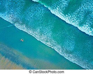 piękny, ludzie, górny, tajlandia, plaża, prospekt