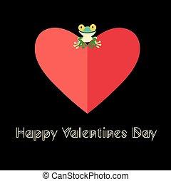piękny, miłość, żaba