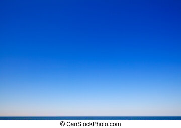 piękny, motyw morski, błękitne niebo