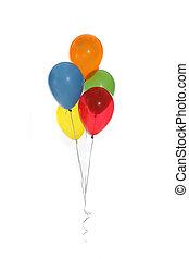 piękny, partia, balony