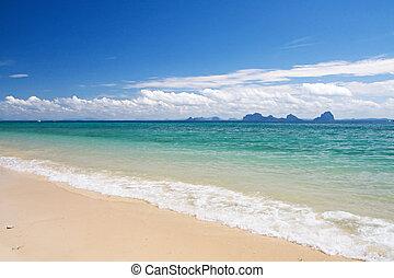 piękny, plaża