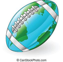 piłka, światowa kula, pojęcie, piłka nożna