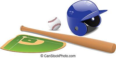 piłka, baseball, accessorie, pole