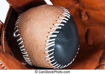 piłka, baseballowa rękawiczka