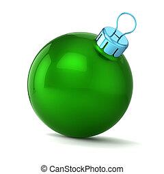piłka, boże narodzenie, zielony, rok, nowy, szczęśliwy, bauble, dekoracje