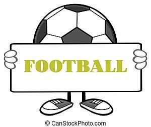 piłka do gry w nogę, faceless, dzierżawa, znak