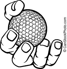 piłka, golf, dzierżawa ręka