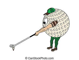 piłka, golf, ludzki