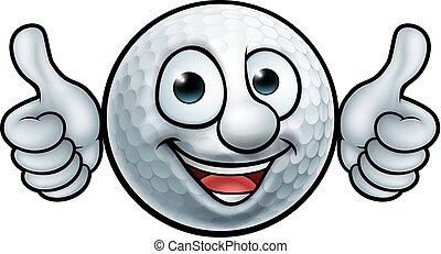 piłka, golf, maskotka