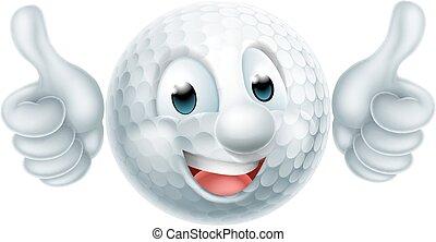 piłka, golf, rysunek, człowiek